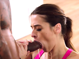 BLACKED She was too distracted by the BBC so she fucked it big cocks blowjob brunette