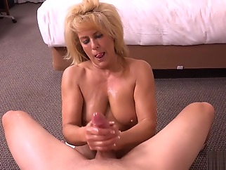 Candy 49 Years Old blond blowjob facial