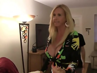 With Her Computer boy blonde blowjob cumshot