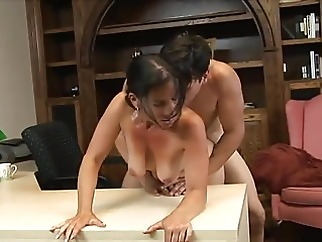 HOT FUCK #135 Sexy Cougar MILF & Younger Lover, Office creampie milf old &