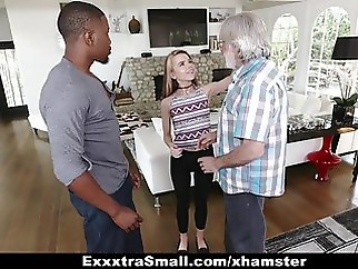 ExxtraSmall - Tiny Teen Alina West Sucks Huge Cock To Pay De facial top rated interracial