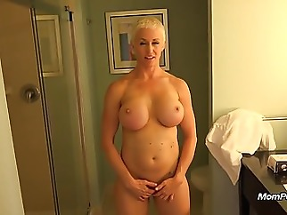 Busty MILF is a total freak mature milf pov