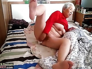 granny with boy asian fingering old &