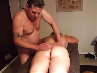 UK Wife Receives A Sensual Cuckold Massage and Creamie amateur brunette mature