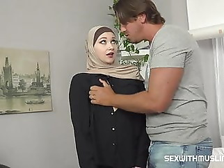 A Muslim cleaning lady was punished for failing to complete the job amateur blowjob handjob