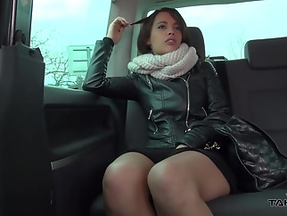 Nikita Belluci great french fuck in car brunette car french