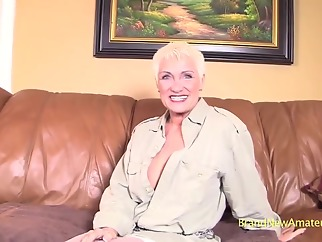 This hot blonde grandma has still got it! big tits blonde casting