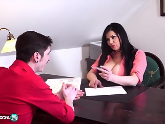 Mamma Mia! Natasha Sweet`s Sexy Job Interview big ass big tits cumshot
