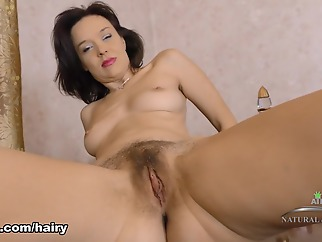 Latisha Minx in Masturbation Movie - ATKHairy brunette hairy high heels