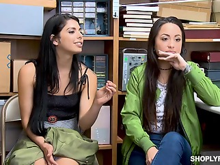 Gina Valentina and Mi Ha Doan were caught shoplifting and had to get fucked as a punishment brunette hd straight