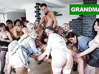 Biggest Granny Fuck Fest part 2 blowjob fingering hardcore
