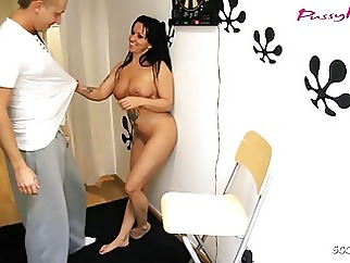 German Mom Tricked Step Son to Fuck When Dad is on Work amateur blowjob hardcore