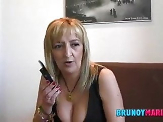 Spanish mature blowjob cumshot mature
