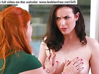 A CHANCE FOR HER NEIGHBOR brunette lesbian redhead