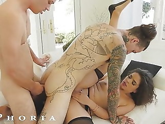 BiPhoria - Wife Catches Husband With Male Lover anal blowjob hardcore