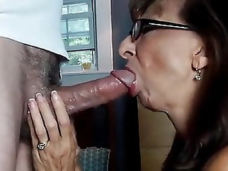 Perfect Granny swallows amateur old & young granny