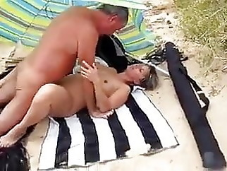 Amateur Couple on Beach with Stranger beach mature milf