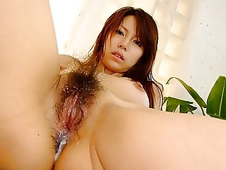 Japanese gal Rino Tokiwa sucks cock in POV, uncensored asian blowjob brunette