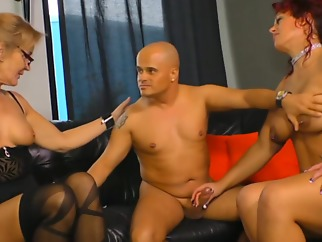 This man likes his two women together big tits blonde cumshot