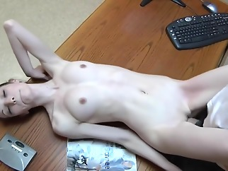 Fucking his assistant over his desk brunette hd small tits