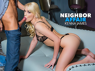 Kenna James Hooks Up With Her Single Neighbor For Extra Cash - NeighborAffair blonde high heels pornstar