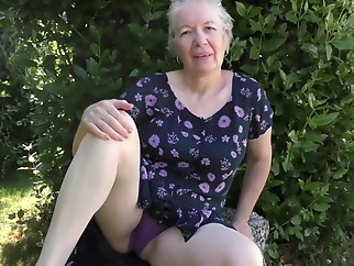 Horny granny, Caroline took off her dress and started masturating, in front of the camera blonde granny hd