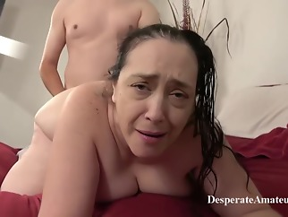 Insatiable granny, Liza was desperate for a good fuck, so she invited a younger guy over big tits brunette hd