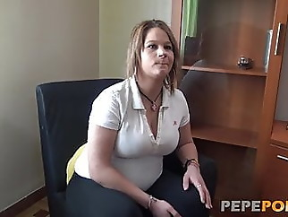 Preggo MILF fantasy is having a threesome with two guys amateur blowjob brunette