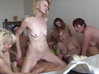 Skinny granny with small empty saggy tits facial granny czech